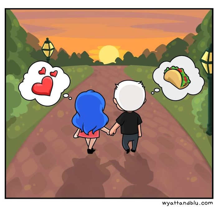 30 Cute & Funny Comics About Relationships And Daily Life