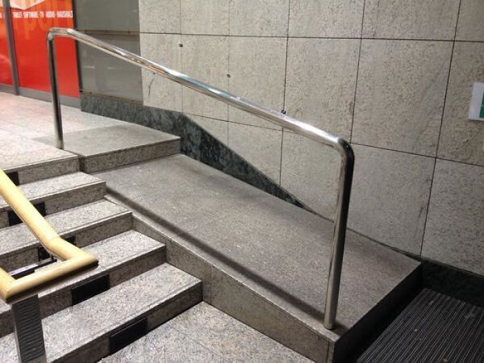 Hats Off To The Genius Who Installed This Disabled Access Ramp