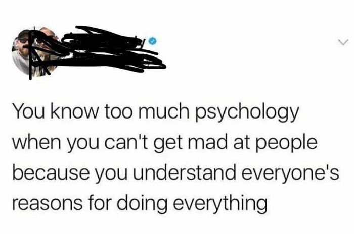 *takes One Psychology Class In High School*
