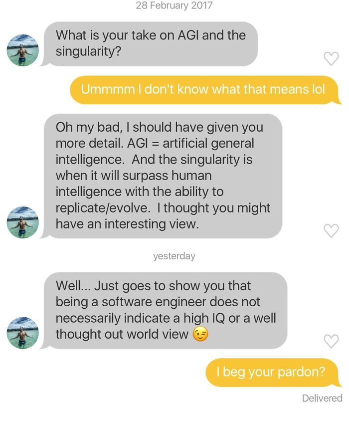 I'm A Software Engineer And Someone Decided To Be A Smart Ass On Bumble