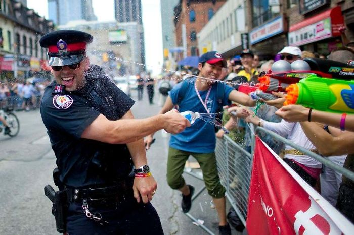 Canadian Police Clash With Citizens