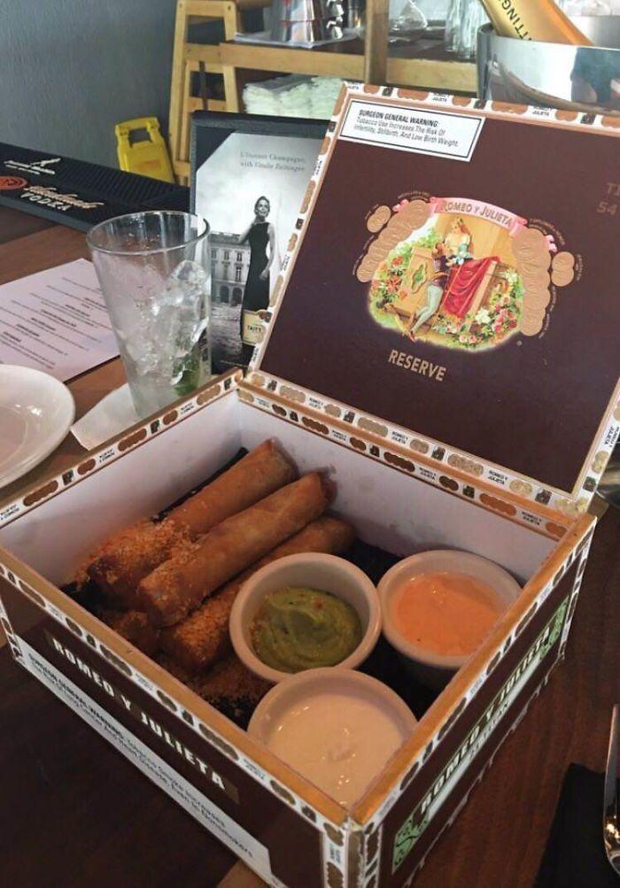 Taquitos In A Cigar Box