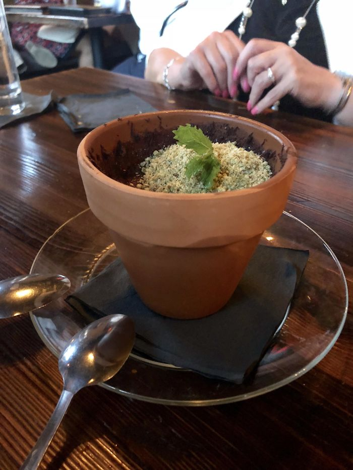 Pudding In A Pot. Wanna Know The Worst Sound Ever? Silverware Scraping Against Terracotta