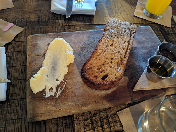 The Butter Was Just Smeared Directly On The Plank