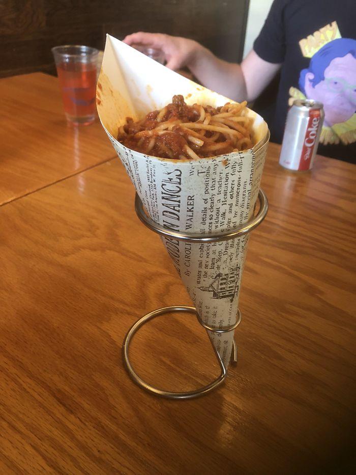 Spaghetti In A Cone