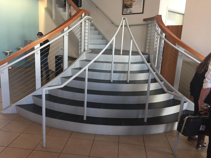 These Stairs In A College I Visited Had People Confused...