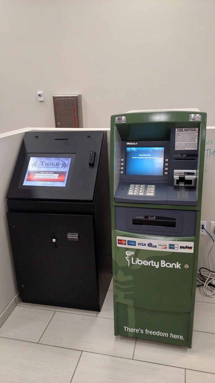 I'm A Public Defender. The ATM In Jail Always Strikes Me As A Little Ironic