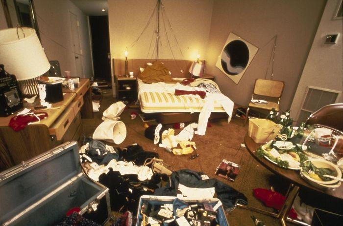 David Lee Roth's Hotel Room During The 1982 Van Halen Tour