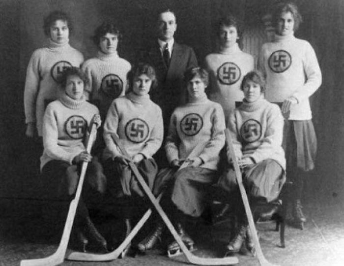The Edmonton Swastikas, A Canadian Girls' Hockey Team. C. 1916 (See Comment For Links)