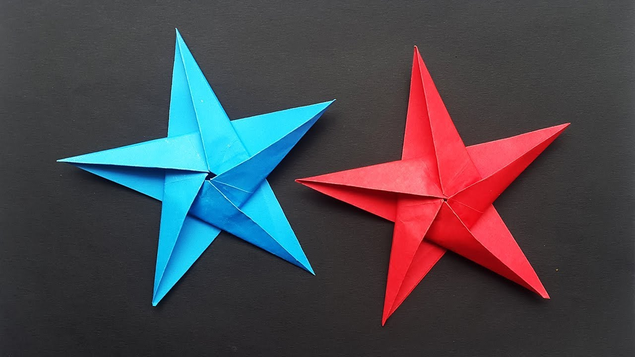 How To Make Paper Star (Origami Stars) For Christmas ⭐ DIY Christmas Decorations