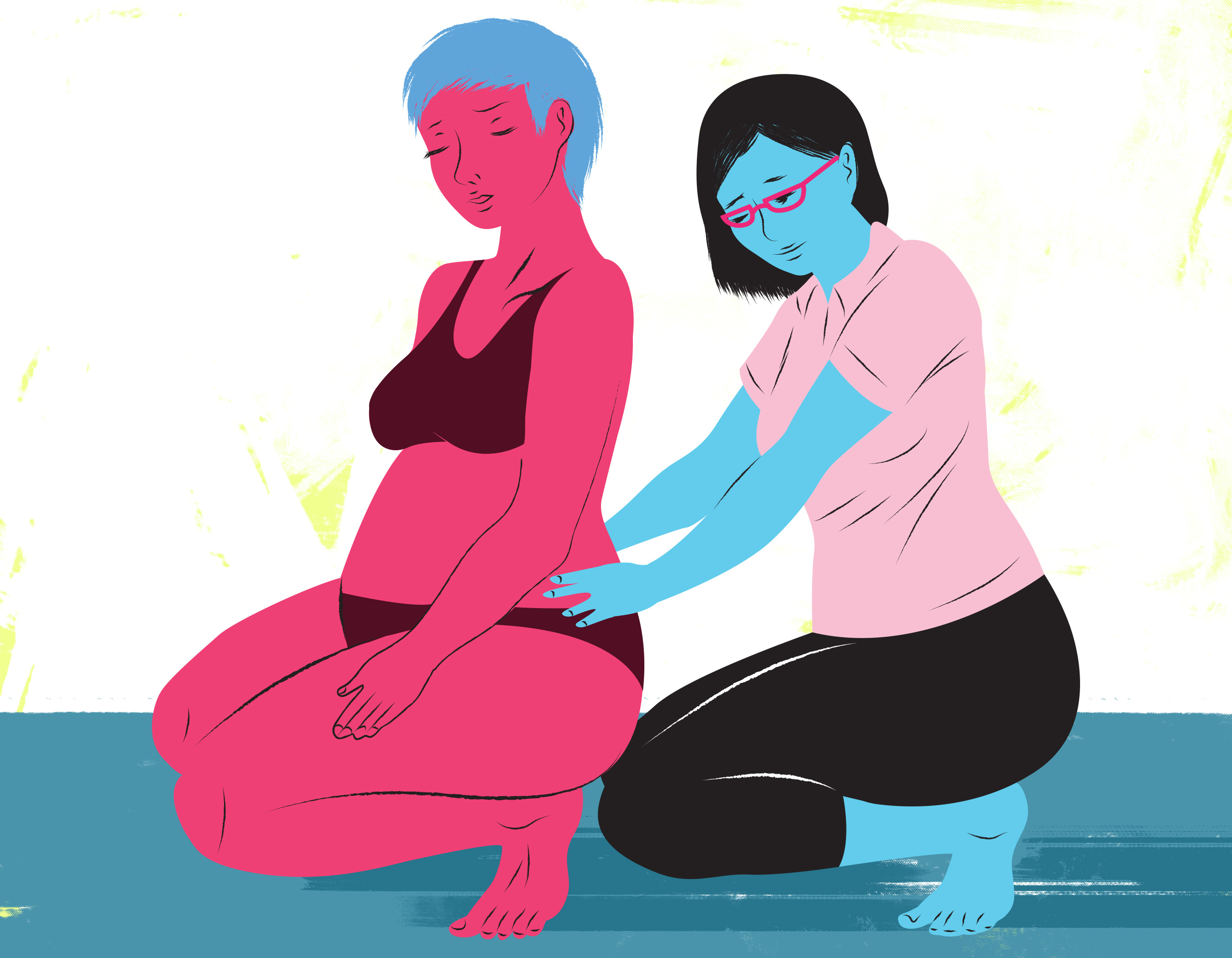 I Make Mother-Baby Art Featuring Doulas And Midwives