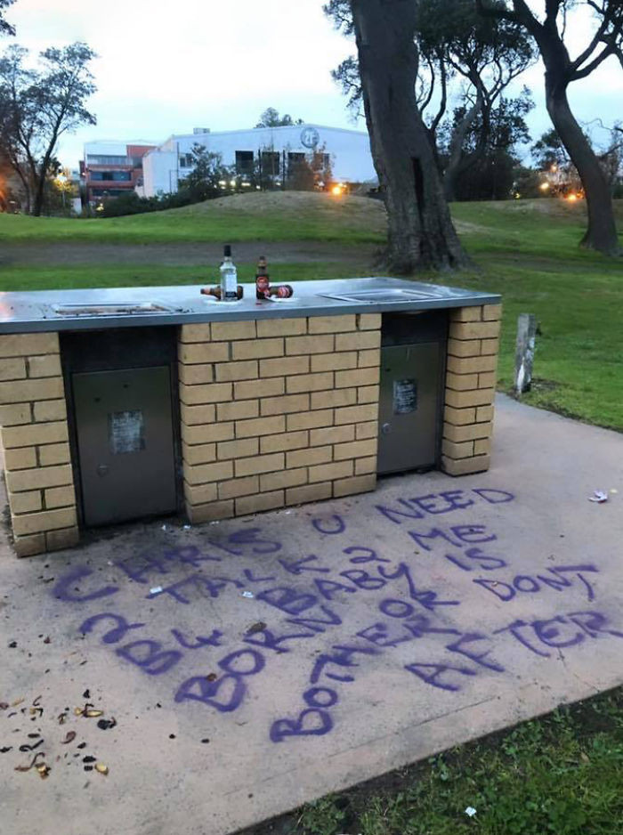 Pregnant Woman Is Painting Graffiti All Over This Australian Town, Trying To Reach The Father