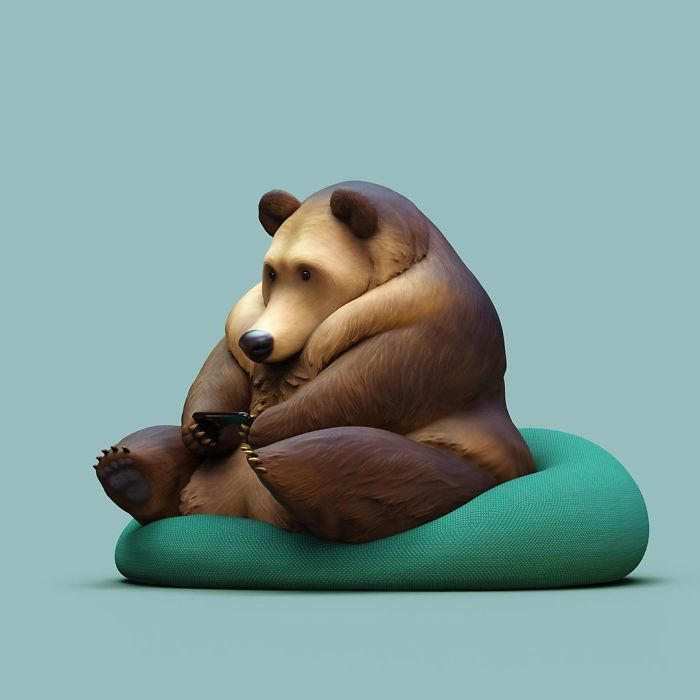 The Lovely Lazy Animals Of A Chinese Artist