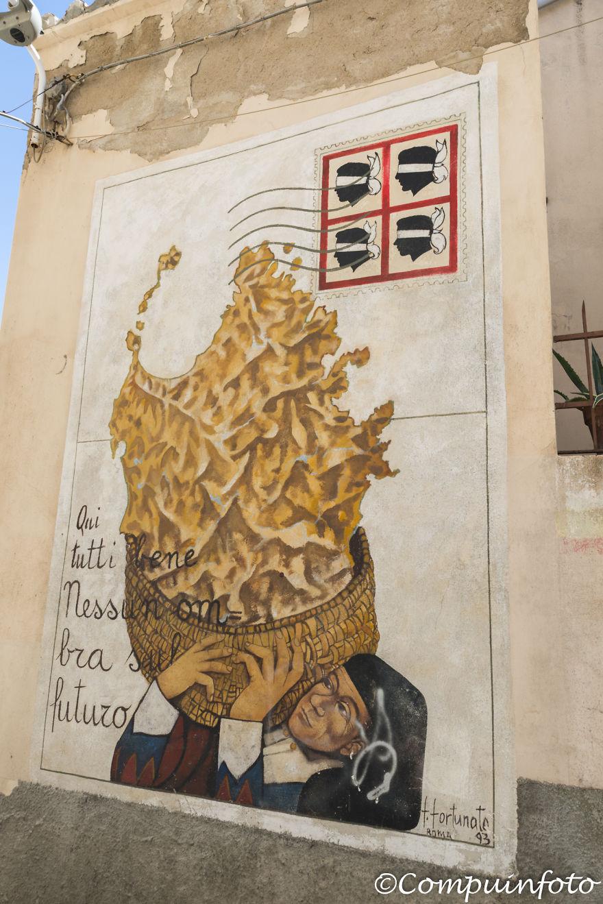 Murales In Orgosolo On The Italian Island Of Sardinia