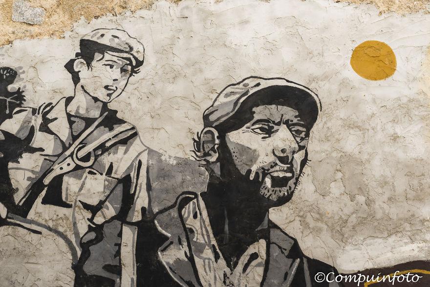 Political Murales In Orgosolo On The Italian Island Of Sardinia