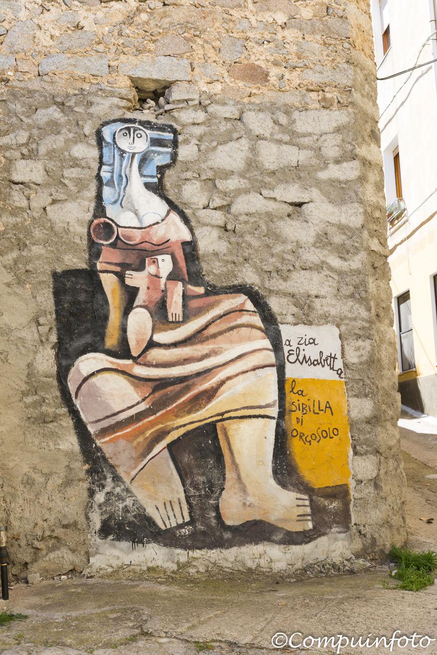 Art Murales In Orgosolo On The Italian Island Of Sardinia