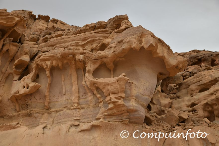 Erosion On The Rocks In The Negev