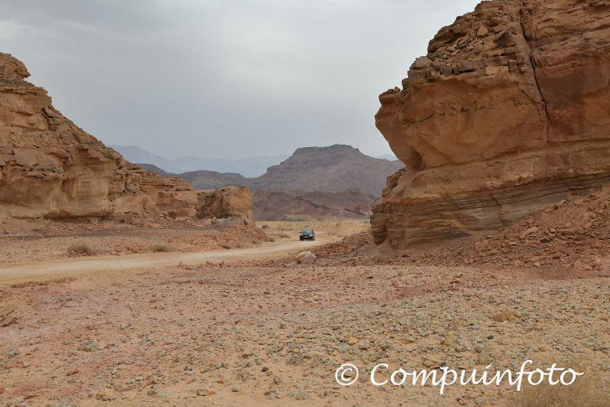 With A Rent A Car Through The Desert