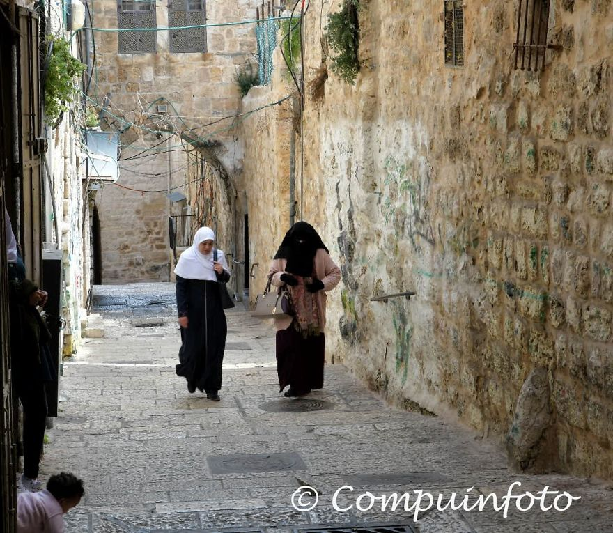 People Walking In The Old City Of Jerusalem