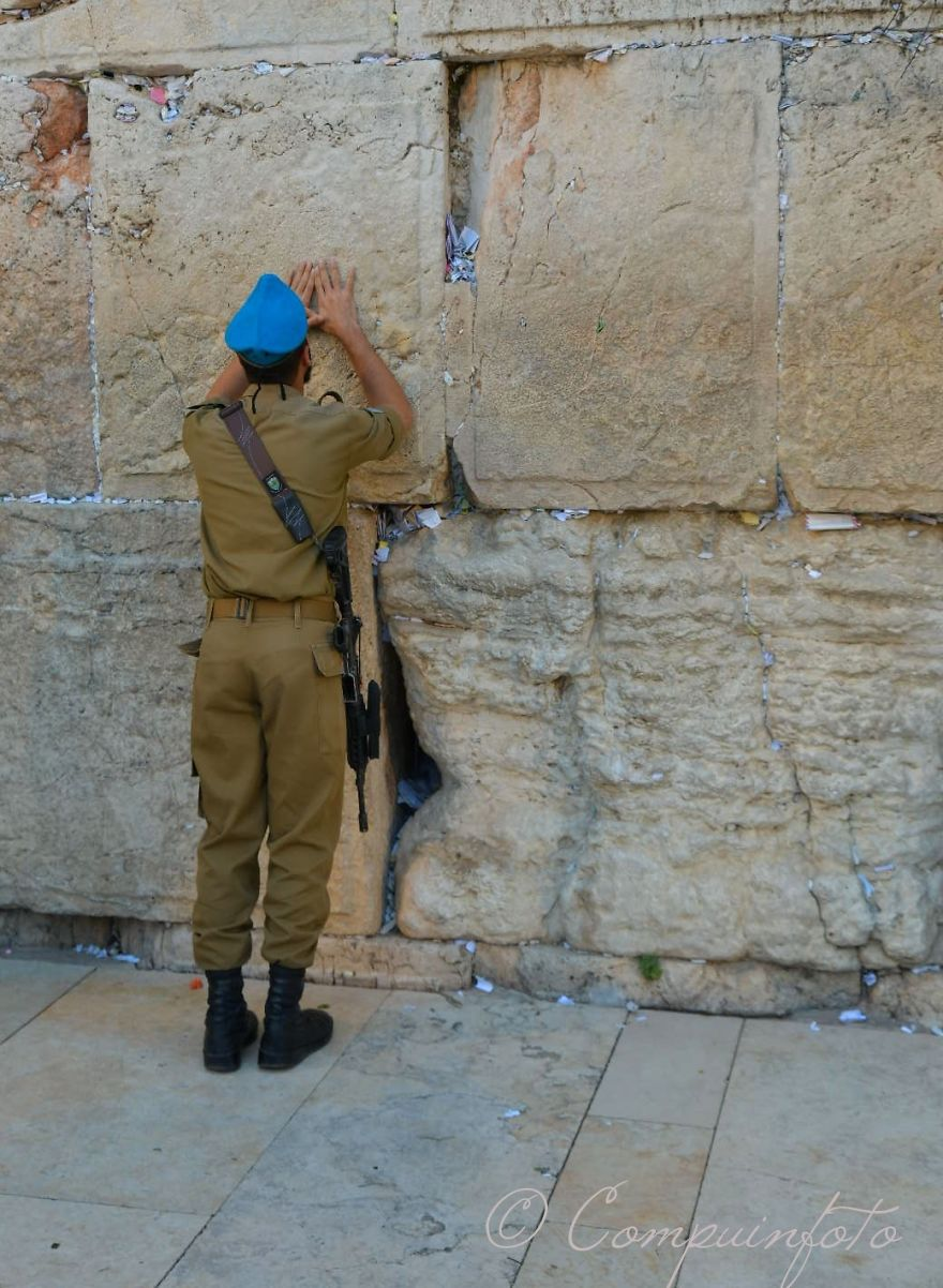 Soldier At The Western Wall