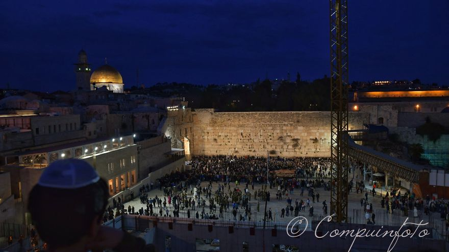 The Temple Square At Night In Jerusalem