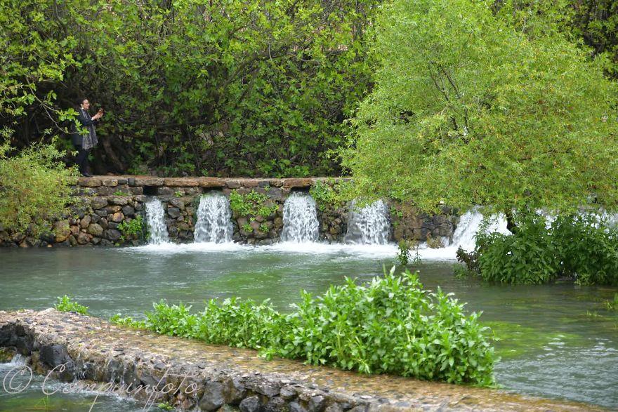 The Source Of The Jordan Near Banias