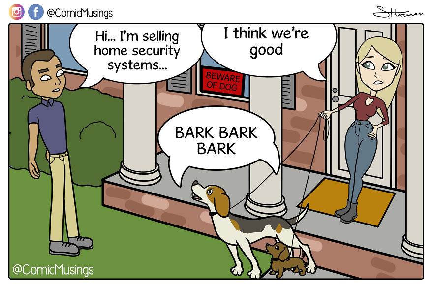 Our Home Security System Likes Treats And Belly Rubs!