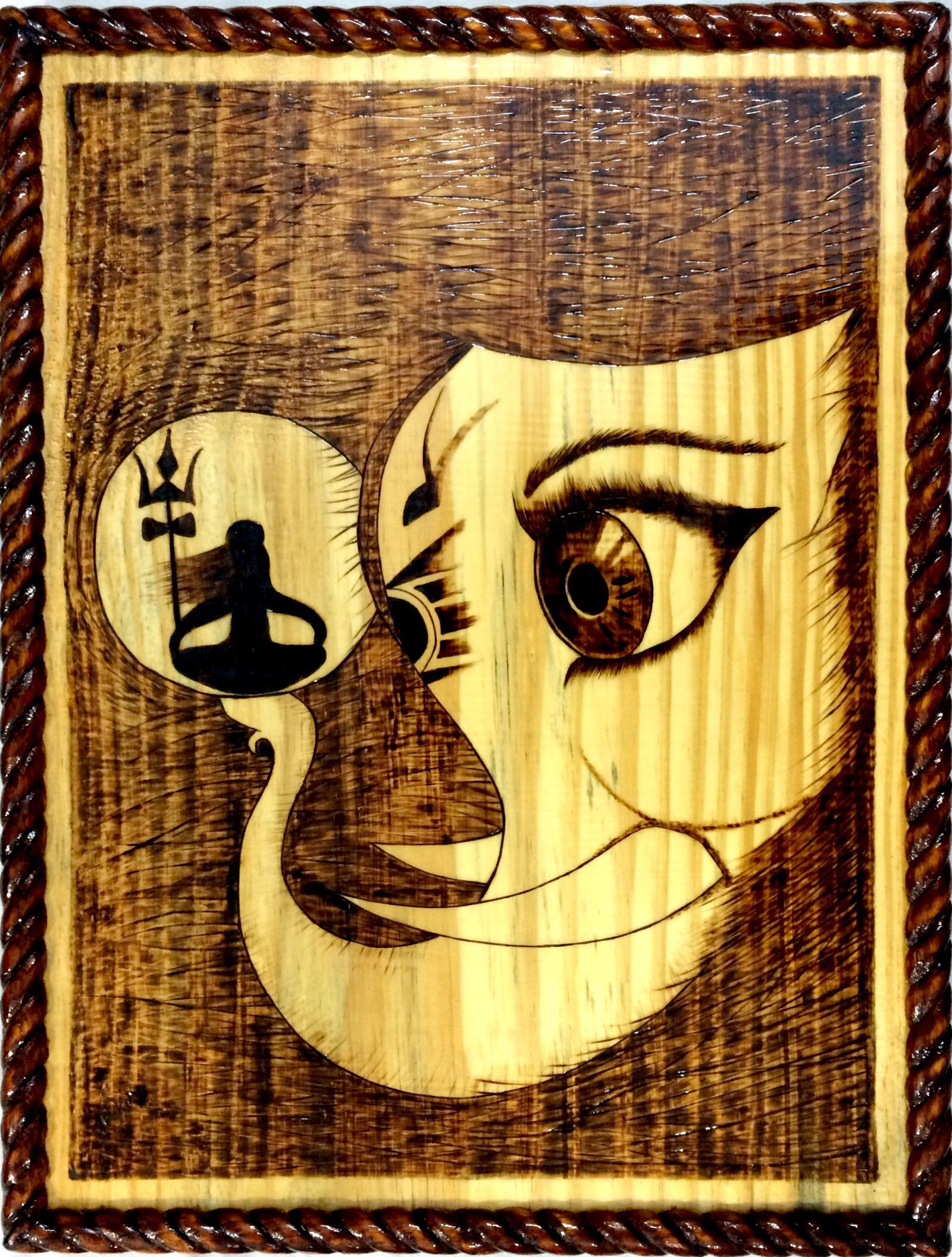 Pyrography Art Painting