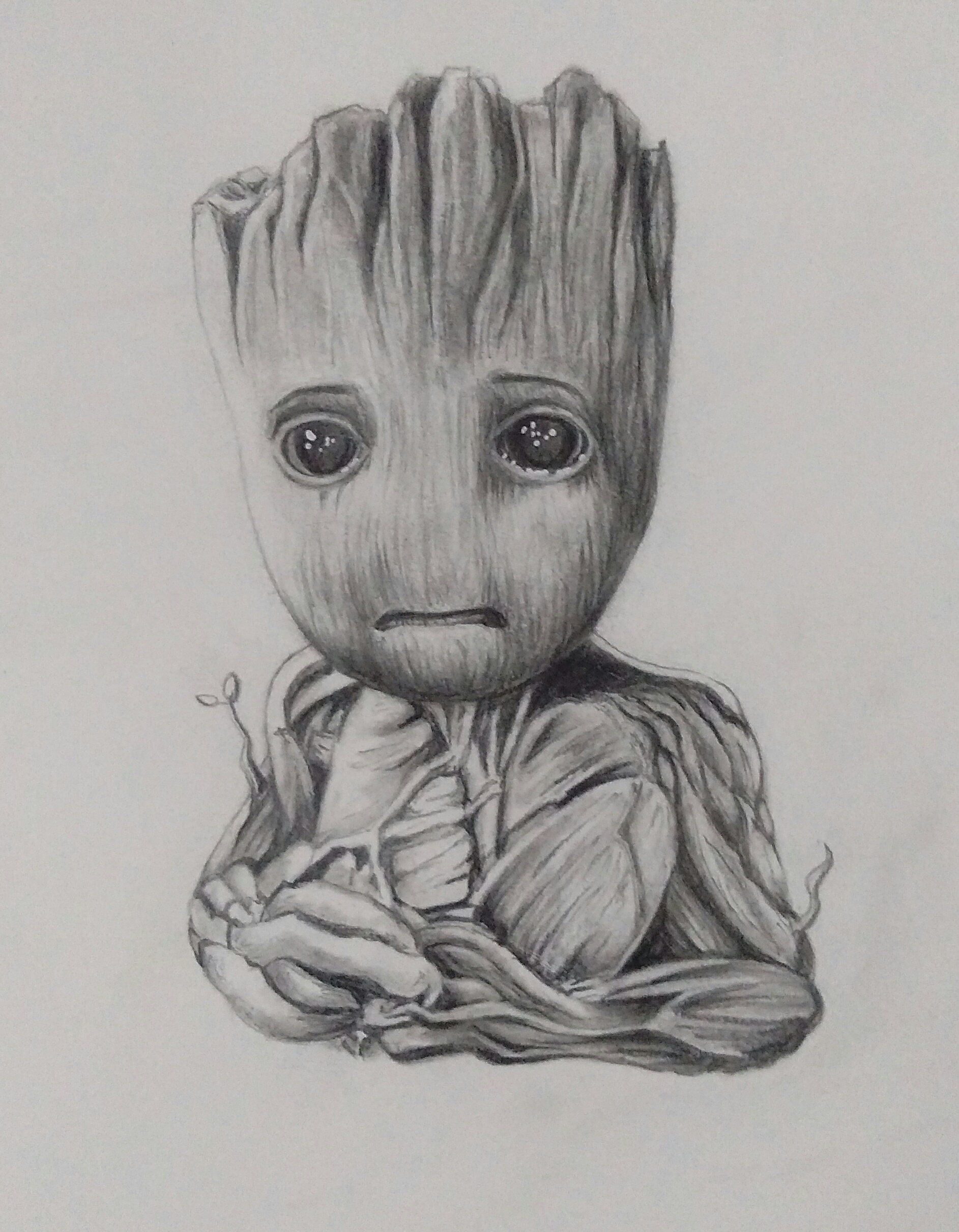 My First Realistic Shading Baby Groot