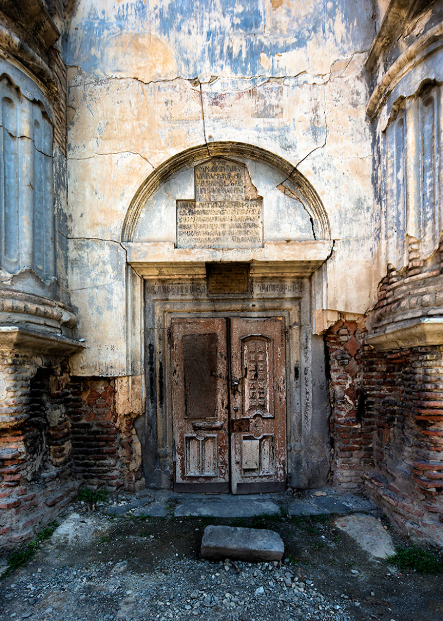 No Entry - The Entrance To The Derelict Armenian Church, Surb Nshan