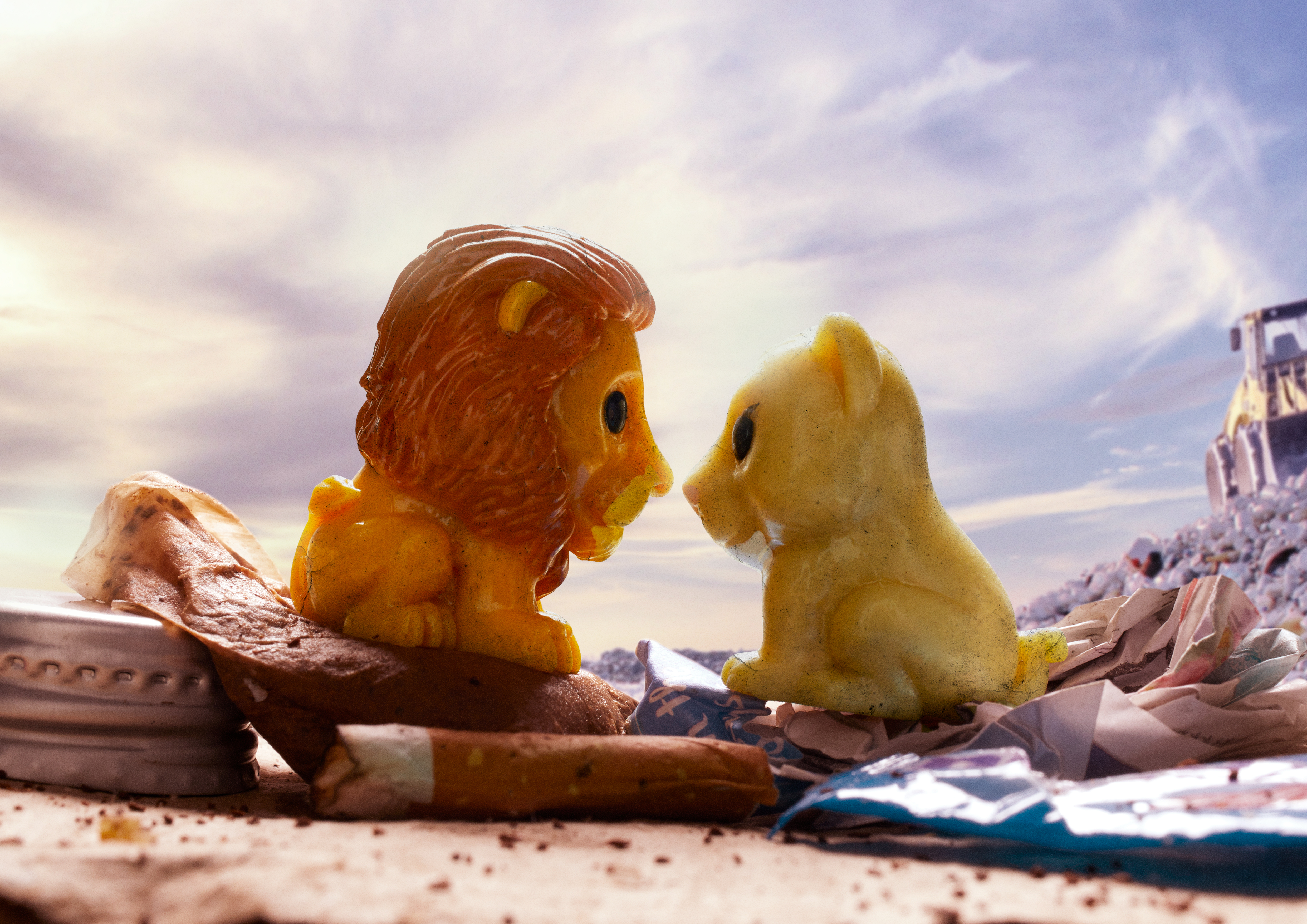 We Recreated Scenes From The Lion King With Woolworths Lion King Ooshies In Their Natural Habitat- Landfill
