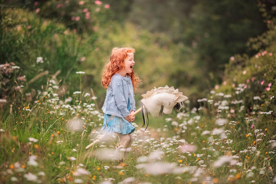 Scouting Of Magical Location For Children Photography