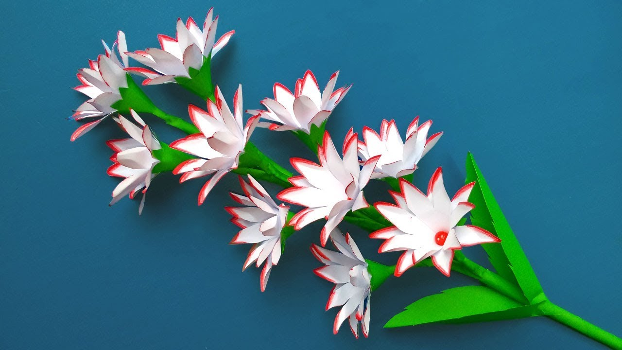 How To Make Easy And Simple Paper Flowers – DIY Home Decor