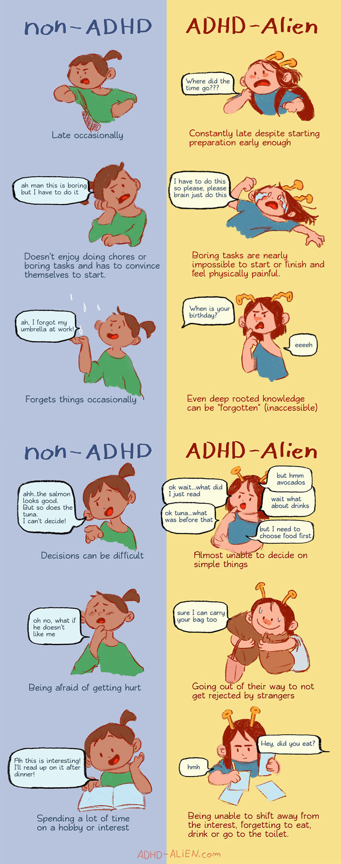 Adhd-Explaining-Alien-Comics