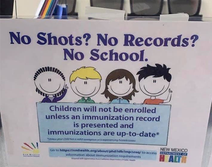 Anti-Vaxxer Angry Over This Sign At School, Attacks It On Facebook, Gets Shut Down With Many Responses