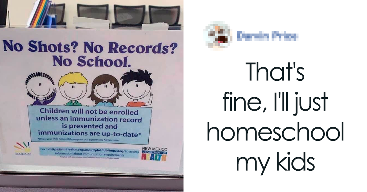 Anti-Vaxxer Rages After A Woman Posts A Sign That Demands School Kids Be Vaccinated