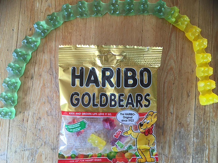 These Gummy Bears Came Stuck Together In The Bag
