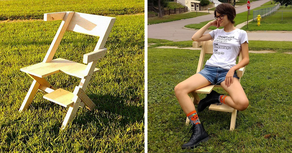 This Dad Just Built His Bisexual Daughter A 'Bi-Chair' And The Internet Loves It