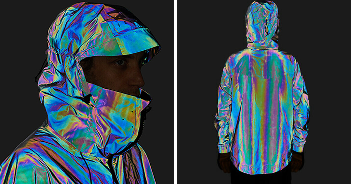 This Jacket That's Made From 2 Billion Glass Spheres Reflects Every Color In The Visible Spectrum