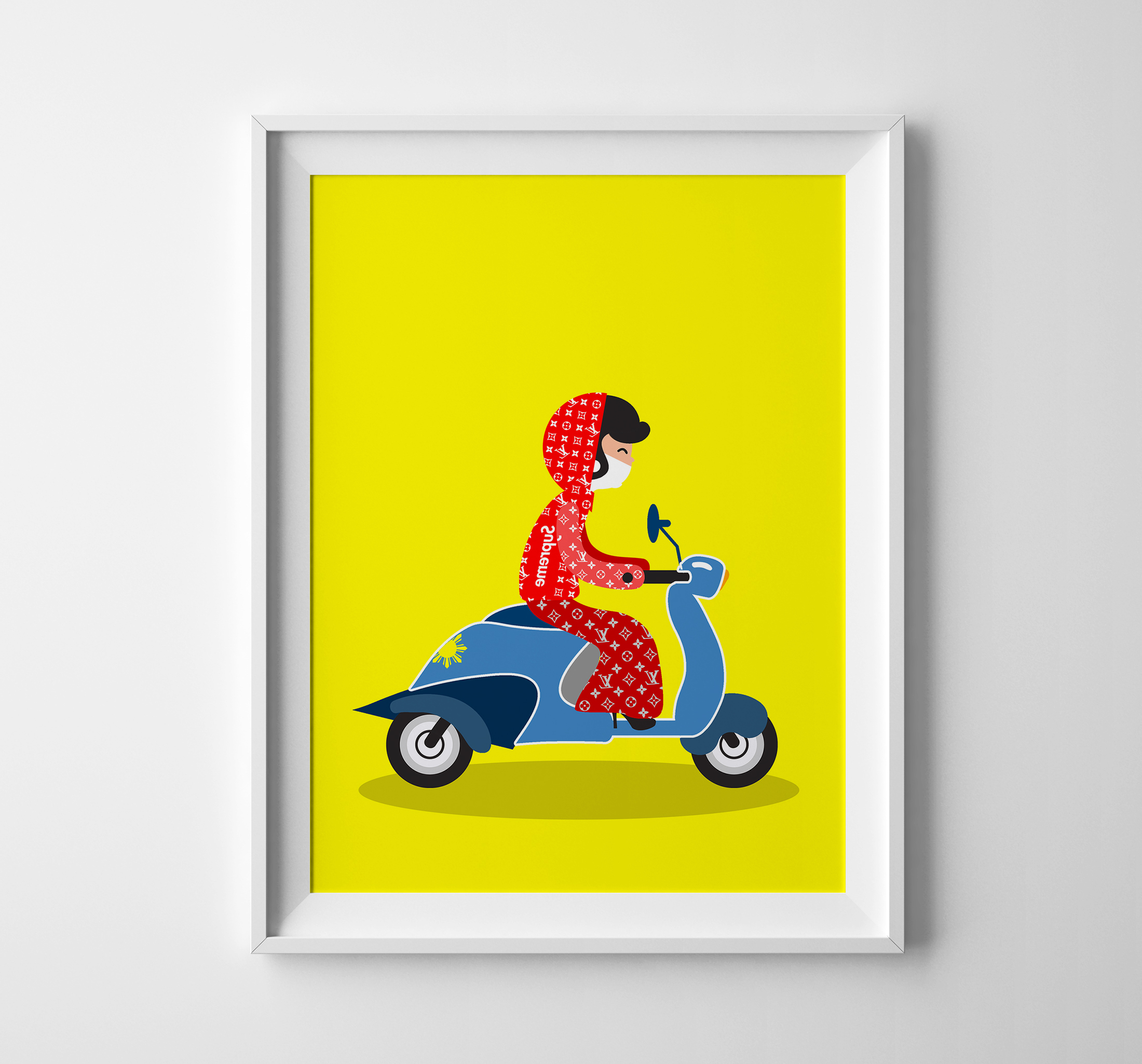 I Illustrate Fashionable Vietnamese Female Bikers