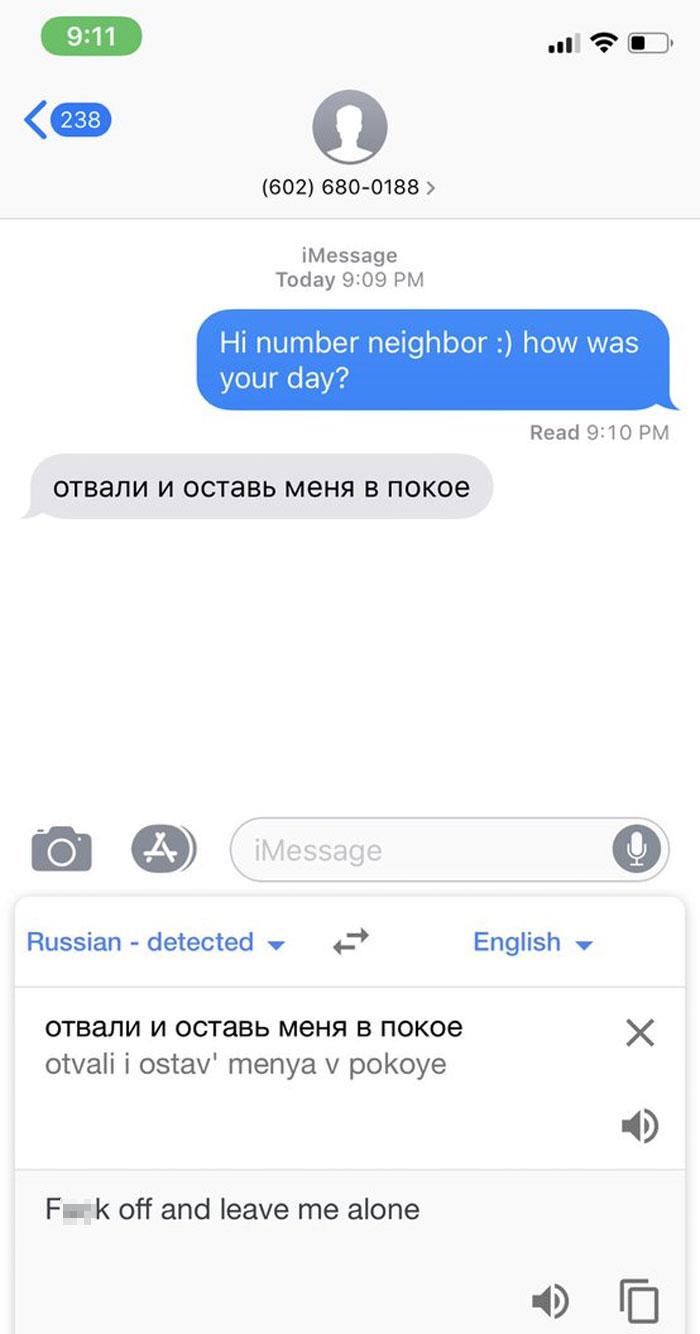 My Number Neighbor Speaks Russian!