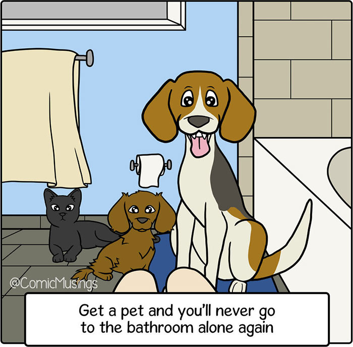 To Recharge From My 9-5 Job, I Started Making Comics About My Life With My Husband And Our Pets (18 Pics)