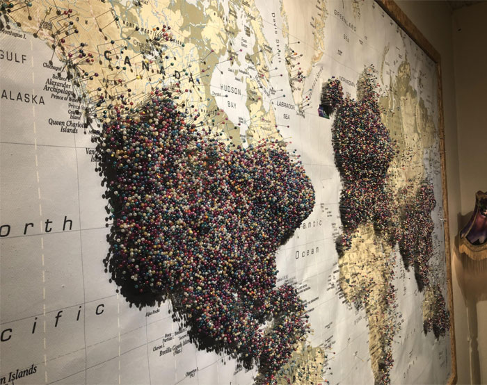 """This """"Where Are You From"""" Map At The Aurora Museum In Reykjavík, Iceland"""