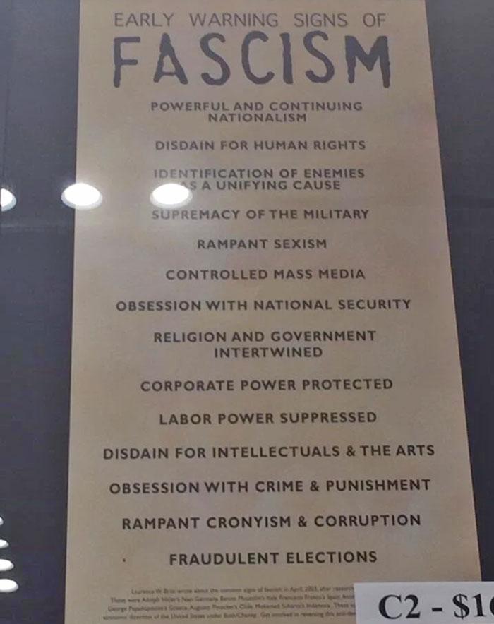 Encontrado en el Museo del Holocausto de Estados Unidos. ¿Le suena algo de esto hoy en día?