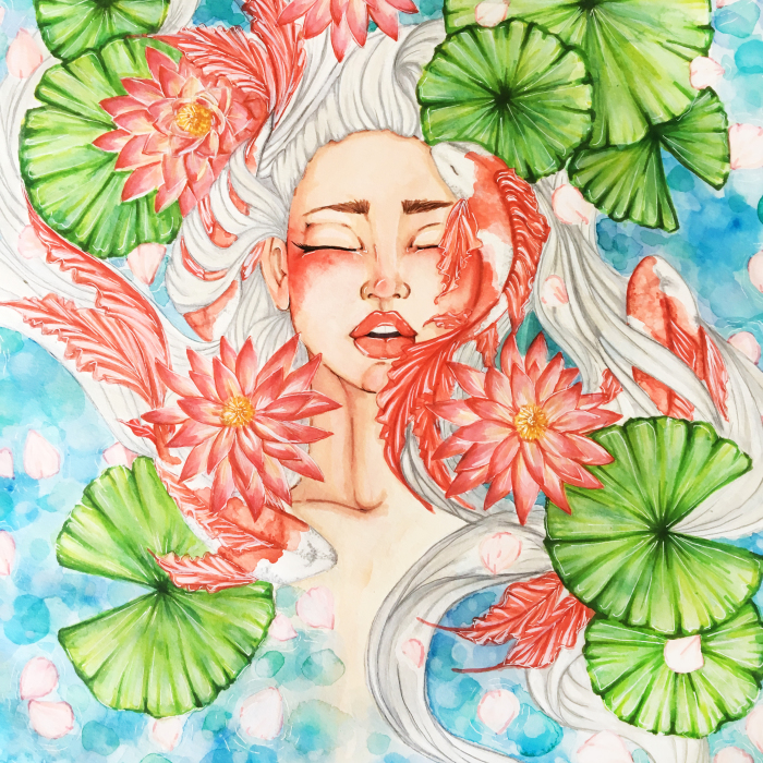 Emotional Illustrations Of Mother Nature Intertwined With The Female Spirit