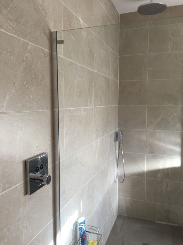 The Shower In My Grandparents New Bathroom Is Very Nice, Except For One Small Problem...