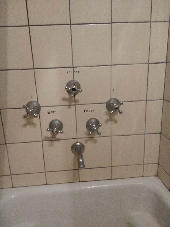 The Controls For This Shower