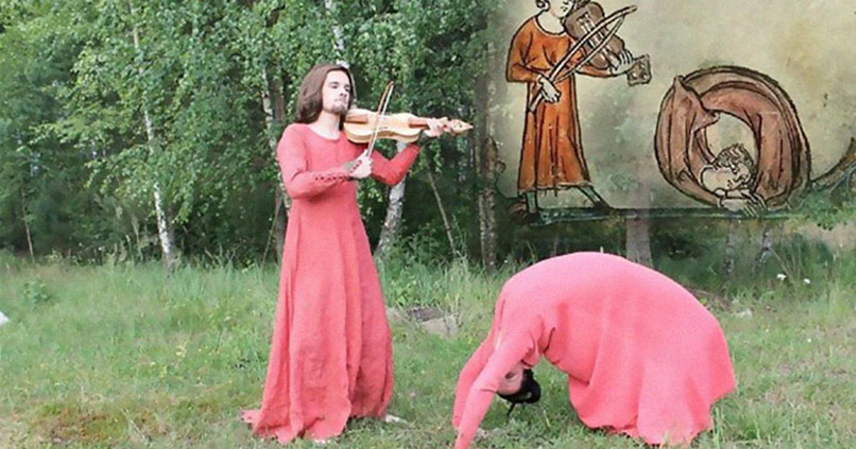 These Students Recreate Weird Scenes From Medieval Books (15 Pics)