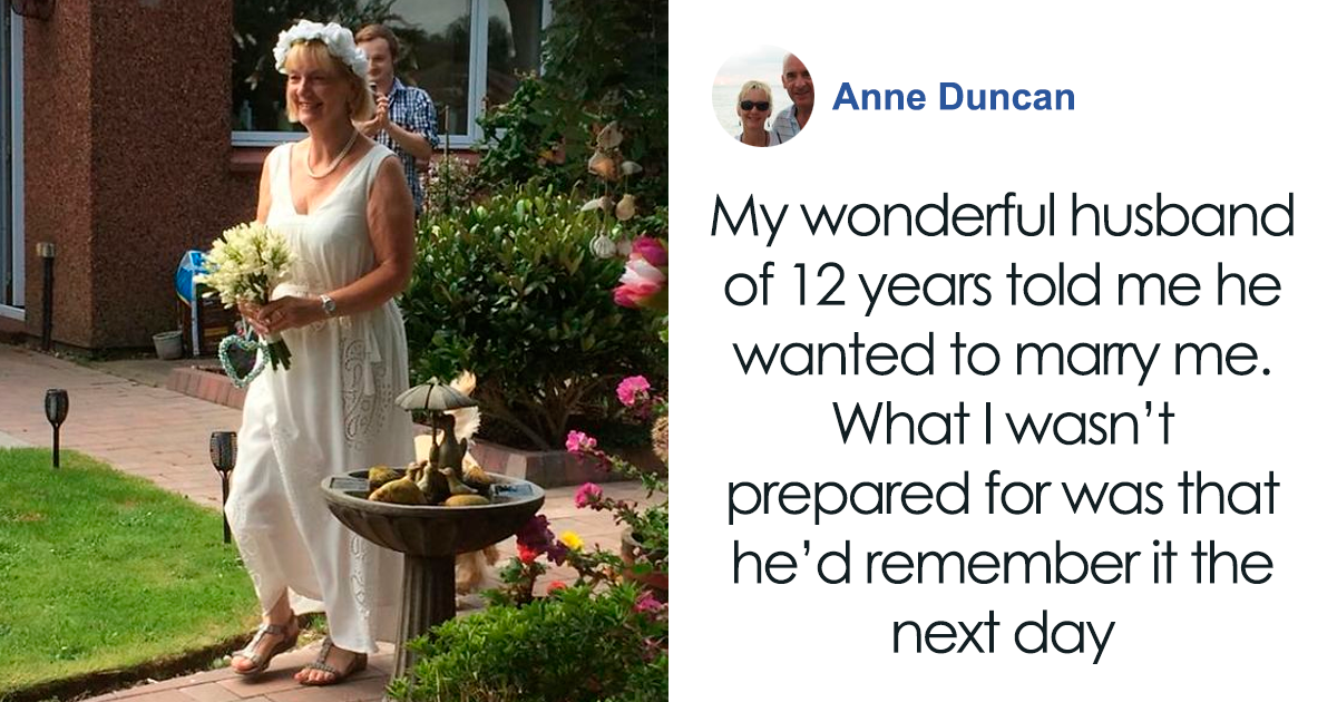 Husband With Dementia Proposes To His Wife Of 12 Years And They Have The Sweetest Ceremony In Their Backyard