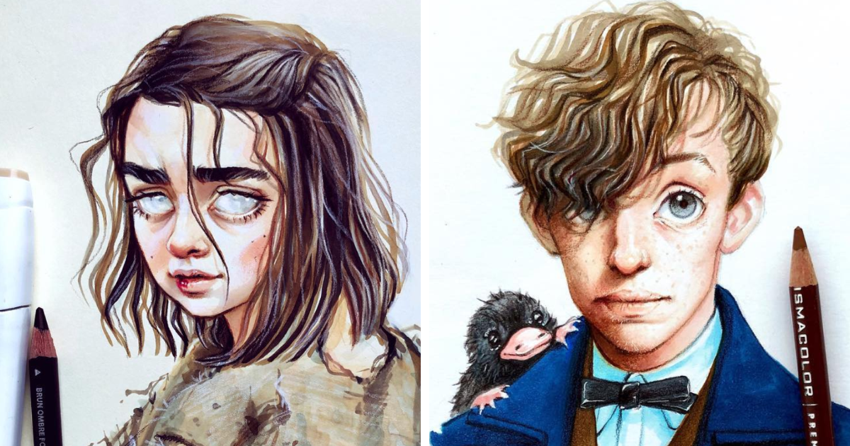 Russian Artist Continues Drawing Celebrities As Adorable Cartoon Characters (36 New Pics)